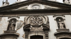 Close up of the exterior of the church of our lady lapa merchant in rio Stock Footage