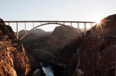 Bridge over Colorado river, Nevada, USA Stock Photos