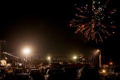 Firework display, Independence Day, Texas, USA Stock Photos