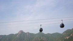 Cableway up to The Great Chinese Wall - stock footage