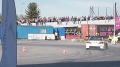 Sport car drifting Stock Footage