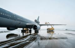 Royal Dutch Airforce McDonnell Douglas KDC-10 Aerial refueling and freight Stock Photos