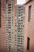 Urban high rise apartment buildings Stock Photos