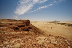 Hilltop in desert landscape Stock Photos
