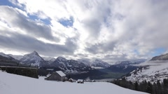 Man shot clouds and mountains on the camera/dslr . Switzerland, the top of the Stock Footage