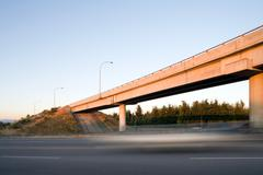 Highway overpass, Vancouver, British Columbia, Canada - stock photo
