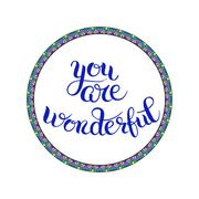you are wonderful hand lettering inscription, calligraphy phrase - stock illustration