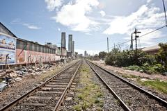 Railway tracks, Buenos Aires, Argentina - stock photo
