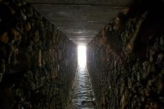 Tunnel with daylight - stock photo