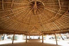 Beach hut, Aruba, Caribbean - stock photo