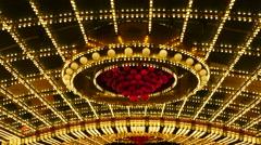 Lighted Grand Casino Entrance at Night - Las Vegas Stock Footage