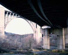 View from an underpass, Pennsylvania - stock photo