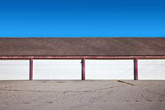 Row of garages Stock Photos