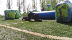 Army Paintball Psp . Rallenty Paintball action, Softair . N. Stock Footage