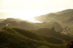 Aerial view of Marin Headlands, Golden Gate National Park, California, USA Stock Photos