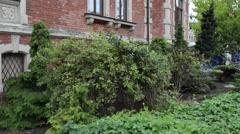Lloyd Palace in Grodzka Street, Bydgoszcz, Poland Stock Footage