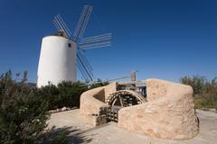 Sa Punta windmill, Sant Antoni de Portmany, Ibiza - stock photo