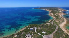 Aerial view of Point Nepean National Park, Australia - stock footage