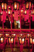 Man Mo Temple, Hong Kong, China - stock photo