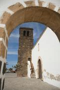Nuestra Senora de la Candelaria church, La Olivia, Fuerteventura, Canary Stock Photos