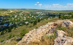 Modern city of Balaklava on Crimean Peninsula Stock Photos