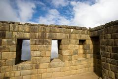 Remains of room at Machu Picchu, Peru - stock photo