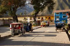 Town of Ollantaytambo, Cusco region, Peru Stock Photos