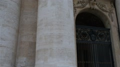 St. Peter Square is large plaza in Vatican City - stock footage