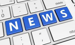 Internet News Computer Keyboard Stock Illustration