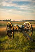Gettysburg Cannon in the Morning - stock photo