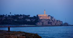 View of Old City, Jaffa, Tel Aviv, Israel - stock photo