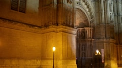 Cathedral of Santa Maria of Palma, Spain Stock Footage