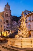 Amalfi Cathedral, Amalfi, Campania, Italy Stock Photos