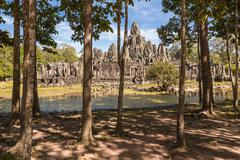 Bayon Temple, Angkor Thom, Cambodia Stock Photos