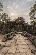 Banteay Kdei temple ruins, Angkor Wat Complex, Siem Reap,Cambodia - stock photo