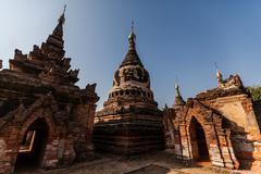 Yadana Hsimi, Inwa, Mandalay, Burma - stock photo