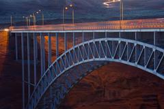 Colorado River, Glen Canyon Bridge, Arizona, United States of America Stock Photos