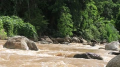 Whitewater Rafting route in Mae Taeng district at Chiang Mai , Thailand. Stock Footage