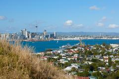 View of Auckland city and harbor, North Island, New Zealand - stock photo