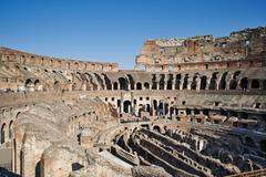 Internal view of the Colosseum, Rome, Italy - stock photo