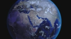 Earth Zoom Out from Middle East Stock Footage
