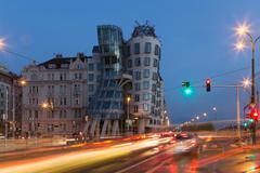 The dancing house, Prague, Czech Republic Stock Photos