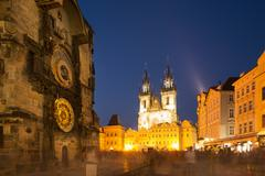 Astronomical clock, Old Town, Prague, Czech Republic Stock Photos