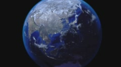 Earth Zoom Out from Japan Stock Footage