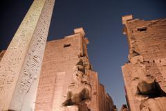 Obelisk at Karnak Temple, Egypt Stock Photos