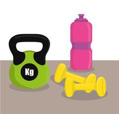 Gym digital design Stock Illustration