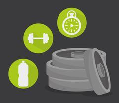 Gym digital design - stock illustration