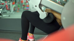 Close up female training buttocks at the gym slow motion Stock Footage