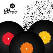 Music digital design - stock illustration