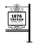 Tavern sign, metal frame with curly elements. - stock illustration